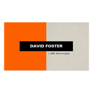 HR Manager - Simple Elegant Stylish Double-Sided Standard Business Cards (Pack Of 100)