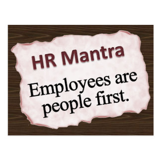 HR Mantra  Postcard