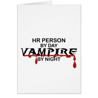 HR Person Vampire by Night Greeting Card