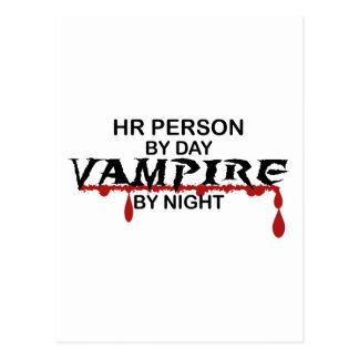 HR Person Vampire by Night Postcard