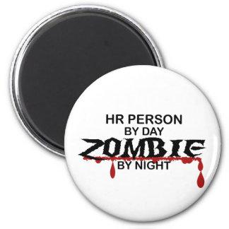 HR Person Zombie 2 Inch Round Magnet