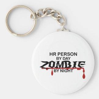 HR Person Zombie Basic Round Button Keychain
