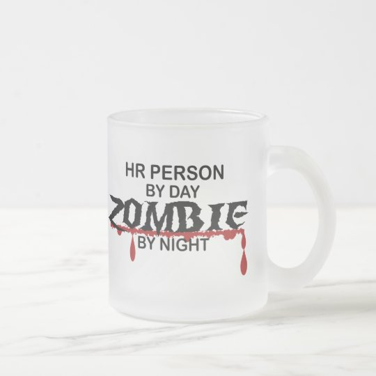 HR Person Zombie Frosted Glass Coffee Mug