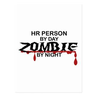 HR Person Zombie Postcard