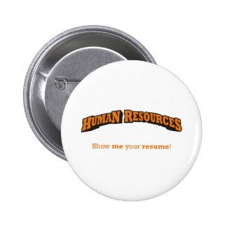 HR / Resume Pinback Button