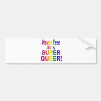 HR Super Queer - Gay.png Bumper Sticker