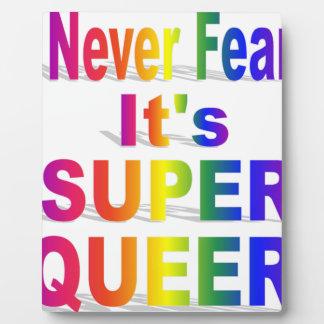 HR Super Queer - Gay.png Plaque