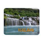 Hraunfossar Falls Iceland Rectangular Photo Magnet