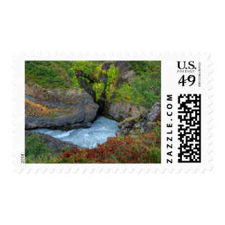 Hraunfossar I Postage Stamp