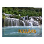 iceland, flowing, hraunfossar, waterfall, water,