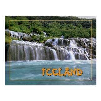 Hraunfossar Islandia Tarjeta Postal