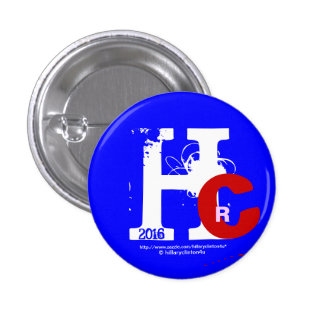HRC 2016 Hillary Rodham Clinton 3D Look Patriotic 1 Inch Round Button