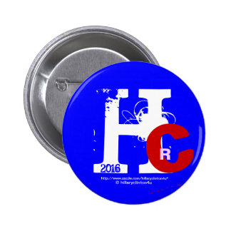 HRC 2016 Hillary Rodham Clinton 3D Look Patriotic 2 Inch Round Button