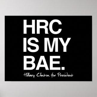 HRC ES MI BAE- Hillary para el presidente - poster