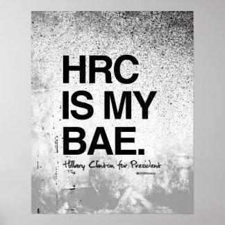 HRC ES MI BAE- Hillary para el presidente Póster
