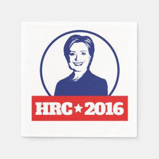 HRC hillary 2016 Clinton 2016 Servilleta De Papel