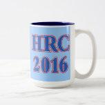 HRC Hillary Rodham Clinton 2016 Two-Tone Coffee Mug