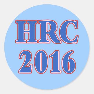HRC Hillary Rodham Clinton 2016 Classic Round Sticker