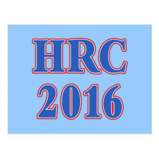 HRC Hillary Rodham Clinton 2016 Tarjeta Postal