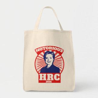 HRC notorio hillary Clinton 2016 Bolsa Tela Para La Compra