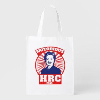HRC notorio hillary Clinton 2016 Bolsas De La Compra