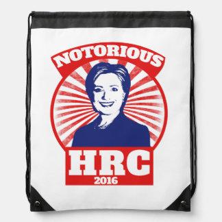 HRC notorio hillary Clinton 2016 Mochila