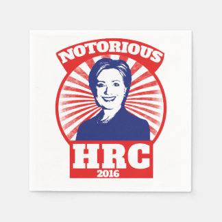 HRC notorio hillary Clinton 2016 Servilleta De Papel