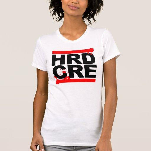 hrdcre-black t shirts