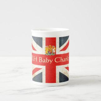HRH Baby Charlotte Bone China Coat of Arms Mug