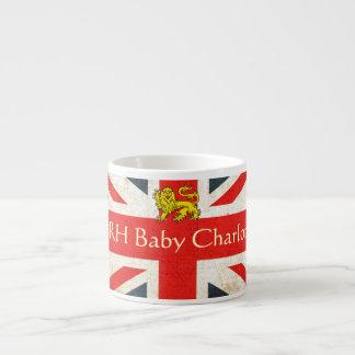 HRH Baby Charlotte Heraldry Lion Espresso Mug