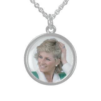 HRH Diana, Princesa de Gales Collares De Plata Esterlina
