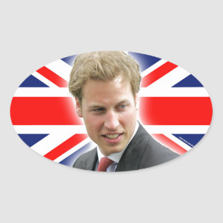 HRH Duke of Cambridge - Stunning! Oval Sticker