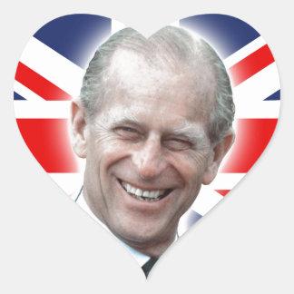 HRH Duke of Edinburgh - Great! Heart Sticker