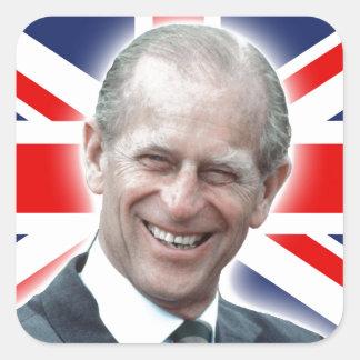 HRH Duke of Edinburgh - Great! Square Sticker