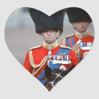 HRH Duke of Edinburgh Heart Sticker