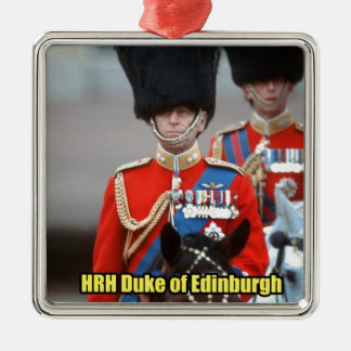 HRH Duke of Edinburgh Metal Ornament