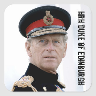 HRH Duke of Edinburgh Square Sticker