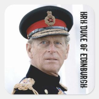 HRH Duke of Edinburgh Square Sticker