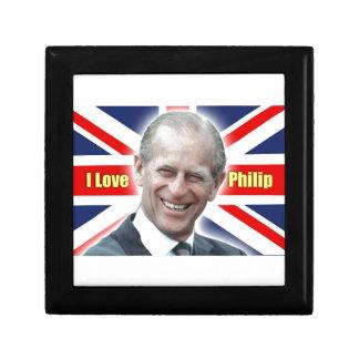HRH Duke of Einburgh - I love Philip Keepsake Box