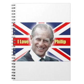HRH Duke of Einburgh - I love Philip Notebook