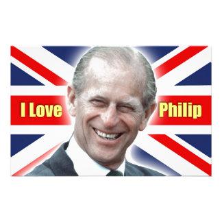 HRH Duke of Einburgh - I love Philip Stationery Paper