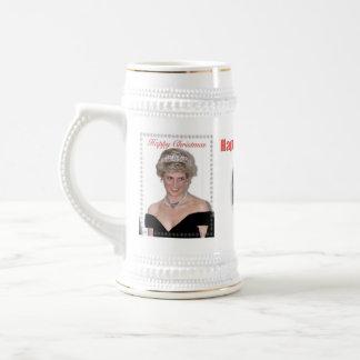 HRH el navidad de la Princesa de Gales Jarra De Cerveza