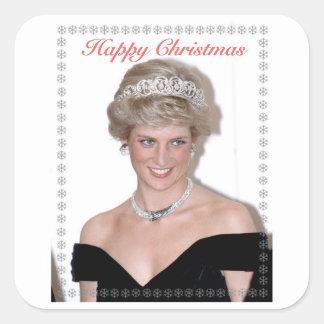 HRH el navidad de la Princesa de Gales Calcomanía Cuadrada
