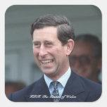 HRH el Príncipe de Gales Pegatina Cuadrada