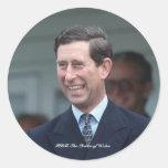 HRH el Príncipe de Gales Pegatina Redonda