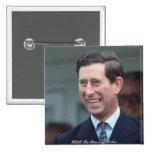 HRH el Príncipe de Gales Pin Cuadrada 5 Cm