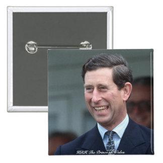 HRH el Príncipe de Gales Pin Cuadrado