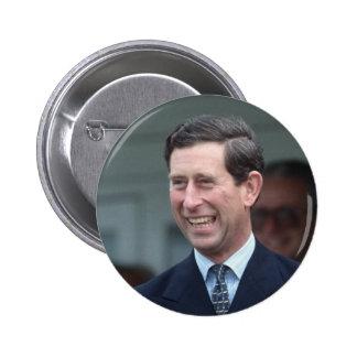 HRH el Príncipe de Gales Pin Redondo De 2 Pulgadas