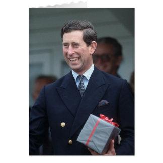HRH el Príncipe de Gales Tarjeta De Felicitación