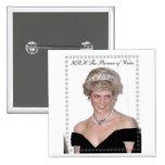 HRH la Princesa de Gales Joyeux Noël Pin Cuadrada 5 Cm
